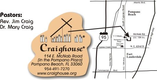 Map to Craighouse