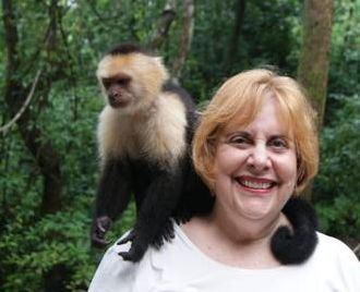 Mary with monkey in Central America